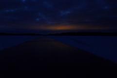 Blå timmen på Runn 26 januari 2014