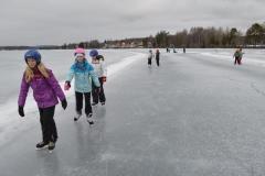 Friluftsdag Hälsinggårdsskolan (skridsko på Runn) 4 mars 2015