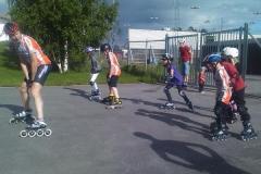 Inlinesträning barn på Lugnet 4 juli 2010