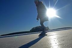 Skridsko på Runn 15 februari 2016