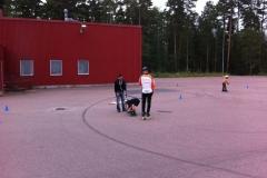Tisdagsträning bilprovningen 28 augusti 2012