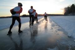 Tur på Ösjön och Runn 5 jan 2013